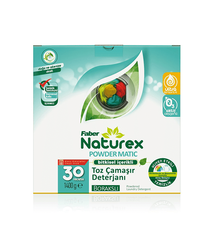 Faber Naturex Bitkisel Limonlu Toz Matik Çamaşır Temizleyici